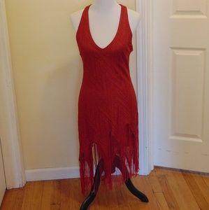 MODA International Red Flapper-Style Dress